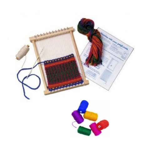 Peg Loom Harrisville (Harrisville Peg Loom Weaving Kit & Bright Color Yarn Refills by Harrisville Designs)
