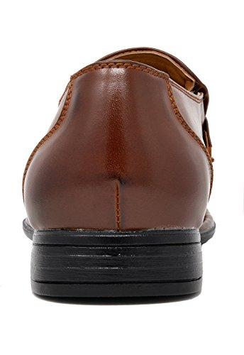 Bruno Marc Mens Giorgio Cuir Robe Doublée Mocassins Chaussures 03-marron