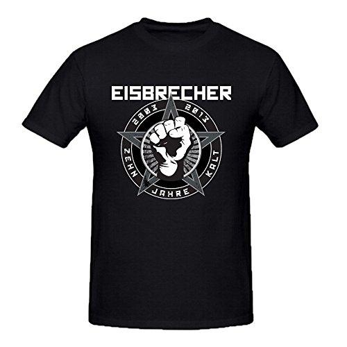 Eisbrecher Zehn Jahre Kalt Tee Shirt Men Ground Neck Black