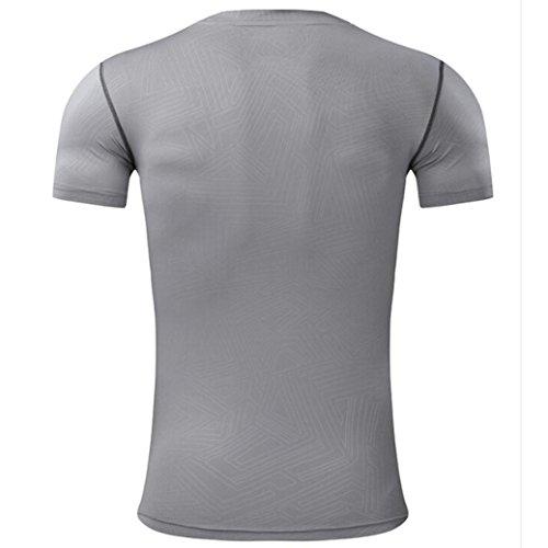 de camisetas camisetas deportivo Gris profesional corto OverDose secos entrenamiento rápida hombres para top FSqaZY