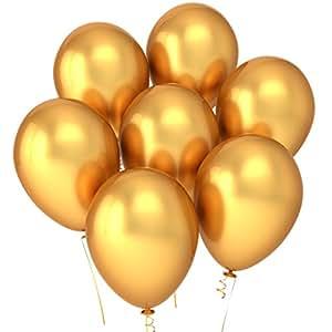 party golden balloons