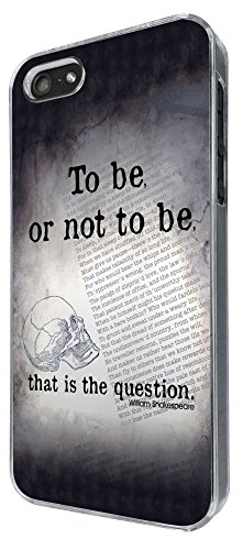 513 - Shakespeare Skull To Be or not to Be Design iphone 5 5S Coque Fashion Trend Case Coque Protection Cover plastique et métal