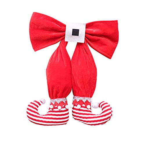 (Liobaba Lovely Stockings Hangings Christmas Tree Ornament for Ornament Vovoamy Christmas Tree Bow Elf Boots Hanging Ornament)
