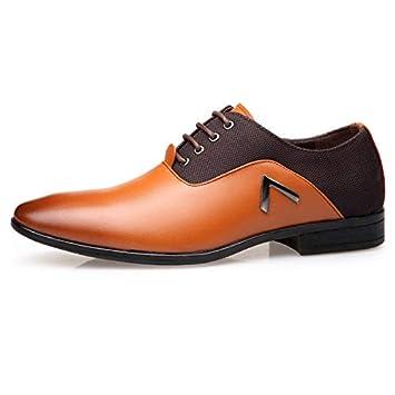 05b2080903f146 AIMENGA Herrenschuhe Business Casual Schuhe Herren Oxford Schuhe Business  Casual 46 Große Wilde Mode 48,