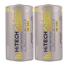 Hitech - 2pcs Rechargeable size