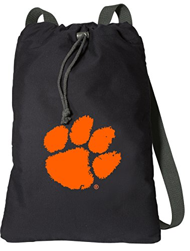 Broad Bay Clemson University Drawstring Backpack Rich Canvas Clemson Tigers Cinch Bag