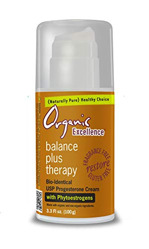 Organic Excellence Balance Plus Therapy Bio-Identical Progesterone Cream with Phytoestrogens, 3 Ounce