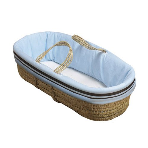 Baby Doll Bedding Hotel Style Moses Basket, Blue from BabyDoll Bedding