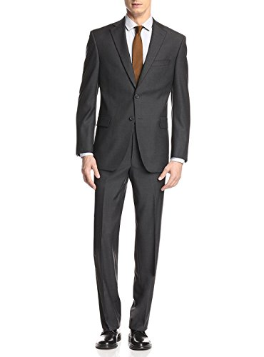 GN GIORGIO NAPOLI Presidential Two Button Mens Suit Modern Classic Fit (44 Long US / 54L EU/W 38
