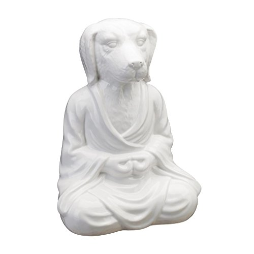 Regal Art & Gift 10 Inches x 7.5 Inches x 14 Inches Zen Statuary Dog Porcelain ()