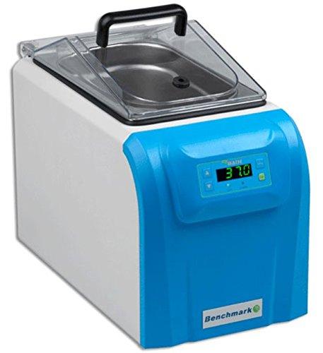 Benchmark Scientific MyBath B2000-4-E Digital Mini Water Bath with Centrifuge Tube Rack Inserts, 4 Liters Capacity, 230V with EU Plug by Benchmark Scientific