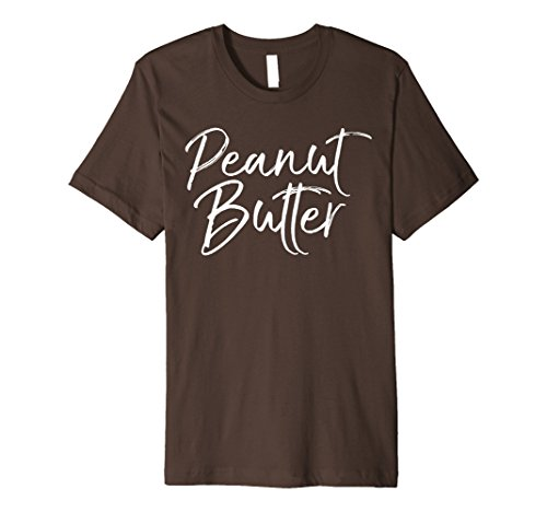 [Mens Peanut Butter Shirt PBJ Jelly Couples Halloween Costume Tees 2XL Brown] (Peanut Butter And Jelly Time Costume)