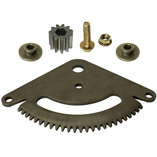 CALTRIC SELECTIVE SECTOR PLATE and PINION GEAR Fits JOHN DEERE L110 L111 L118 L120 L130