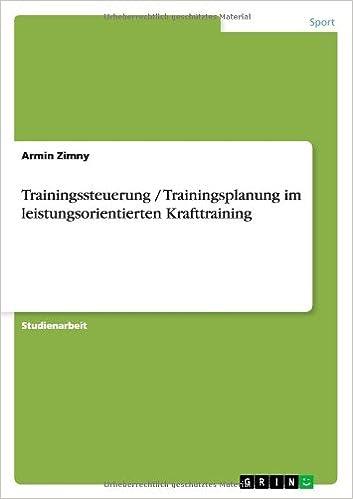Trainingssteuerung / Trainingsplanung Im Leistungsorientierten Krafttraining