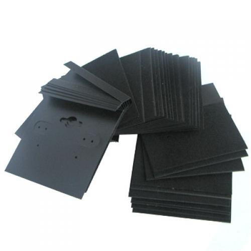 - 1 X Earring Display Hang Cards Black Flocked 2 X 2 Inch (100)