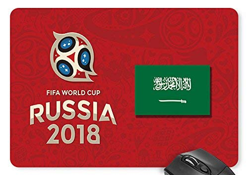 BGLKCS Bling Bling Russia 2018 World Cup Saudi Arabia Team Mouse Pad 9.8×8.3 inches