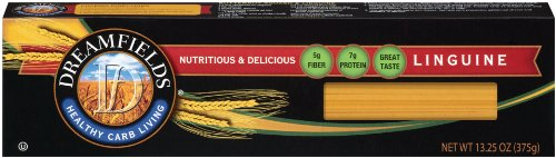 Dreamfields Pasta Healthy Carb Living, Linguine, 13.25-Ounce Boxes (Pack of 10)