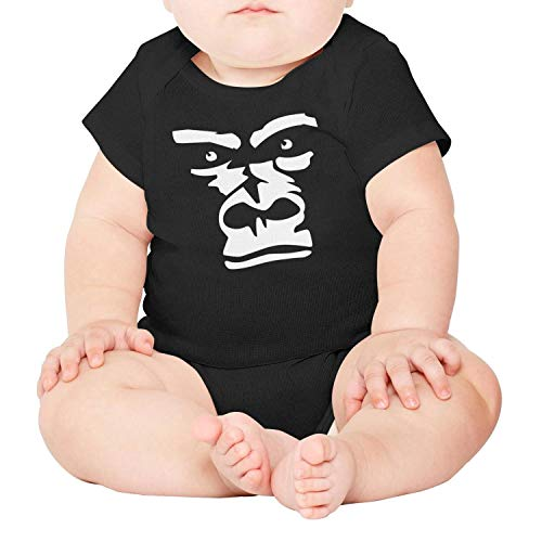 Price comparison product image Ngjdshfk Babies 0-24 Months Gorilla face Drawing Cotton 100% Gift Short Sleeve Baby Onesie Romper