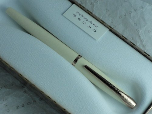 CROSS ATX ROLLERBALL SELECTIP PEN IN MALTESE PEARL CHAMPAGNE WITH 23K ROSE GOLD APPOINTMENTS by A.T. Cross (Image #3)