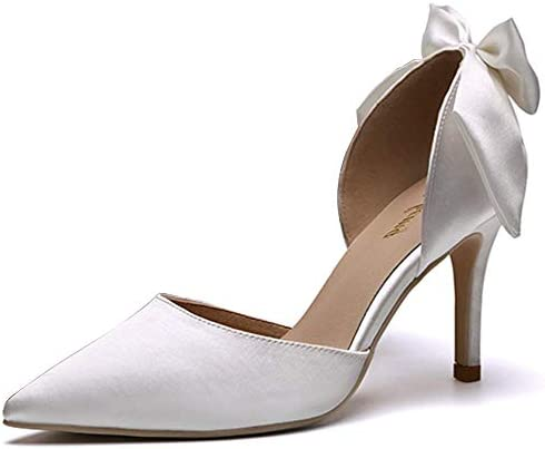 Satin Wedding Shoes High Heels Pointed