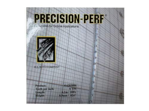 HS Boyd Precision-Perf/CS 20-Foot Roll 6203006 - 6 TPI 0.6 mm (.024″)