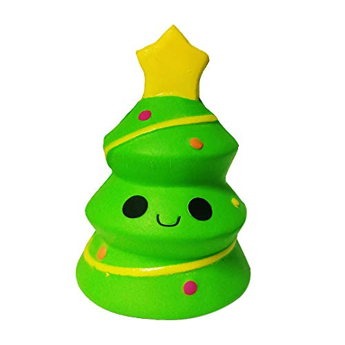 Pausseo Simulation Christmas Tree Scented Squeeze Toy, Super Slow Rising Squeezable Dolls,Ideal for Stress Reliever & Anxiety Relief,Special Needs,Autism,Disorders & More -