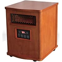 Comfort Glow QEH1410  Quartz Heater with  Remote, Compact, Oak Finish