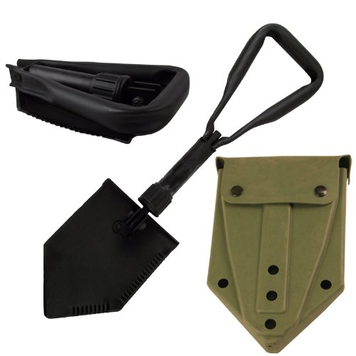 Entrenching Tool with Plastic Carrier New by U.S. Military