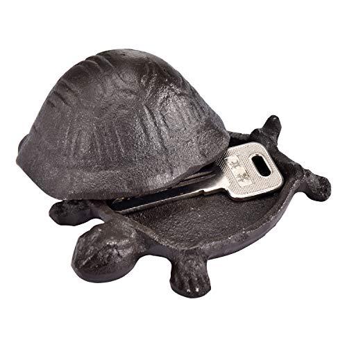 Stone Garden Key (AI-DEE Decor Garden Decoration Turtle Cast Iron Key Hider Stone Garden Lawn Decoration)