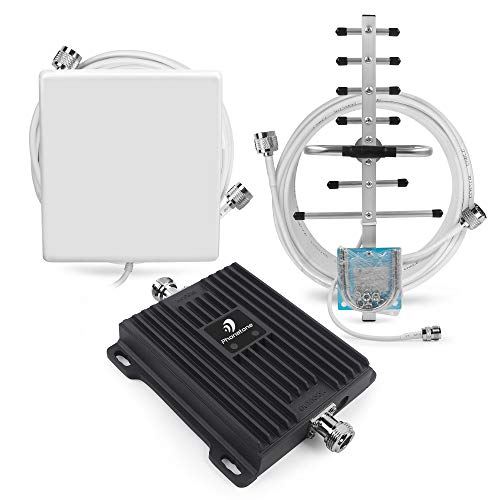 Cell Phone Signal Booster, Dual Band Home 3G Repeater, Supports 4,500 Square Foot Area