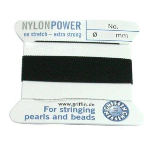 Griffin Nylon Bead Cord Beading - Black Griffin Nylon Bead Stringing Cord #6