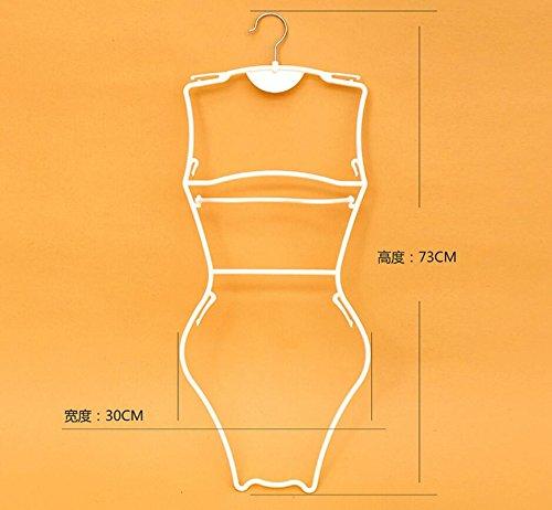 Dwthh 10 Appendini in Plastica per Adulti Costume da Bagno Bianco Telaio Gancio///Slip