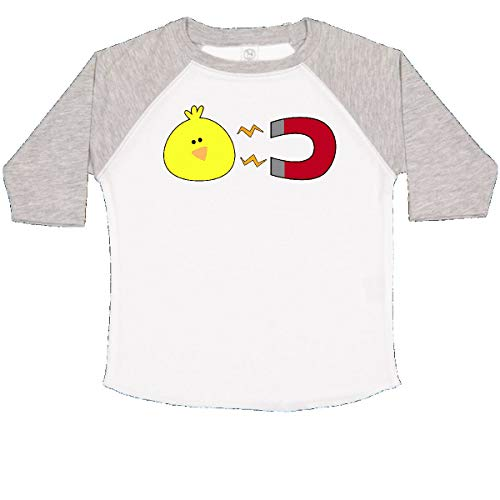 inktastic - Chick Magnet Toddler T-Shirt 2T White and Heather c620