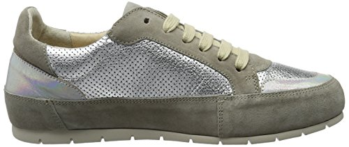 Sneakers Grigio Manas Femme Delfi grigio argento Basses Grau argento Hqww6aSRn