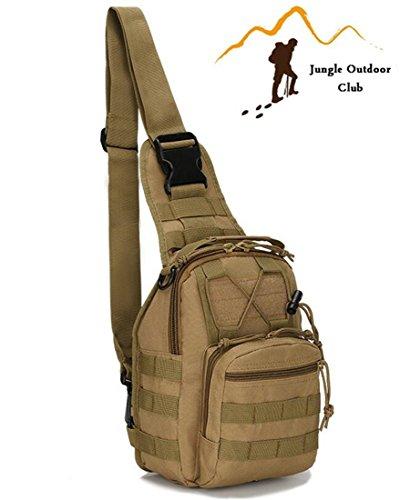 Jungle Oxford Tactical Taschen camouflage Staubbeutel MOLLE Taschen Wild Tasche Rucksack Rucksack Wandern Klettern Radfahren BBQ Runner Brust Tasche, klein, khaki