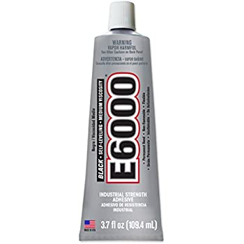 E6000 230031 Medium Viscosity Adhesive, 3.7 fl oz, Black