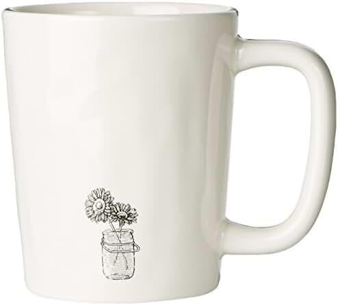 Life is good Artisan Engraved Mason Mug (Simply Ivory)