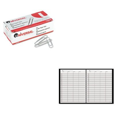 (KITAAG8031005UNV72220 - Value Kit - At-a-Glance Recycled Four-Person Group Undated Daily Appointment Book (AAG8031005) and Universal Smooth Paper Clips (UNV72220))