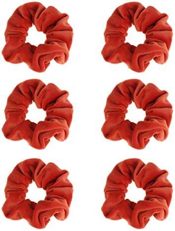 FRCOLOR Pluis Haarkabels Effen Kleur Haarringen Eenvoudige Haarbanden Mode Paardenstaart Houders voor Dames Meisjes 6 stuks