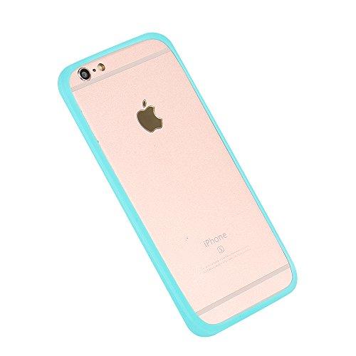 Silikonbumper / Bumper aus TPU für Apple iPhone 5s, Türkis / Blau | Schutzrahmen Schutzring für Smartphone Case Hülle Schutzhülle - K-S-Trade (TM) (Wir zahlen Steuern in Deutschland!)