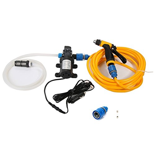 Portable Pressure Washer Car Wash Cleaning System Kit 130PSI Water Pump for Auto, Marine, Pet, Window, Travel ,Gardening and Camping (80W)
