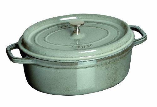 Staub Mini .25 Quart Oval Cocotte, Graphite (0.25 Quart Oven)
