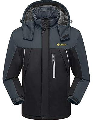 GEMYSE Men's Waterproof Mountain Jacket Fleece Windproof Ski Jacket