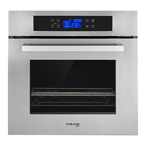 GASLAND Chef 24″ 2.3Cu.f Multi-functional Built-in Stainless Steel Electric Single Wall Oven, 24-Inch 240V 3200W 11 Cooking Function Electric Oven with Digital Touch Control and 3-Layer Glass Window