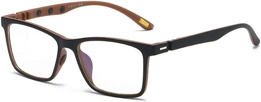 Gafas de iones negativos de luz anti-azul, piedra mineral azul computadora teléfono móvil gafas de radiación espejo plano 7 colores para protección de la salud ocular-2