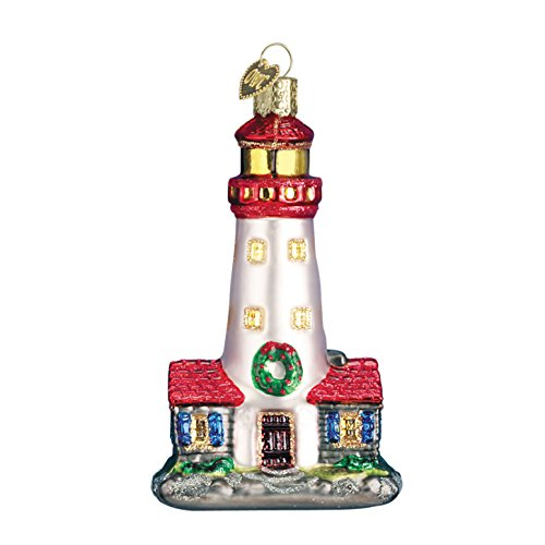 Old World Christmas Ornaments: Lighthouse Glass Blown Ornaments for Christmas Tree