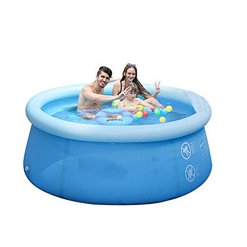 LYNN Inflatable Swimming Pool,Round,Outdoor Large Family Paddling Pools,Play Pool,Thickened Material Environmentally Friendly Plastic Swimming Pool,Swim Pool,Suitable for Adult Child Smooth Sur