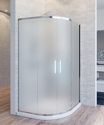 Olimpo duchas ate-op-90 X 90 ducha doble puerta corredera semicircular redondo anti gota satinado, mate, juego de 2 piezas: Amazon.es: Bricolaje y herramientas
