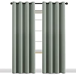 H.VERSAILTEX Window Treatment Blackout Thermal Insulated Room Darkening Solid Grommet Curtains/Drapes for Bedroom (Set of 2 Panels,52 by 84 Inch Long,Sage)