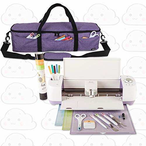 Luxja Foldable Bag Compatible with Cricut Explore Air and Maker, Carrying Bag Compatible with Cricut Explore Air and Supplies (Bag Only), Purple by LUXJA (Image #8)
